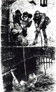 Die Hexenprobe (Stich von G. Franz, 1878)